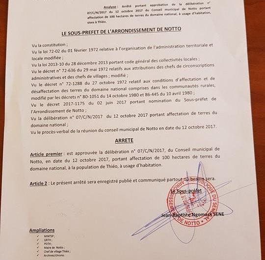 TERRAINS DE 150 M2 A MBOUR DANS LA REGION DE THIES